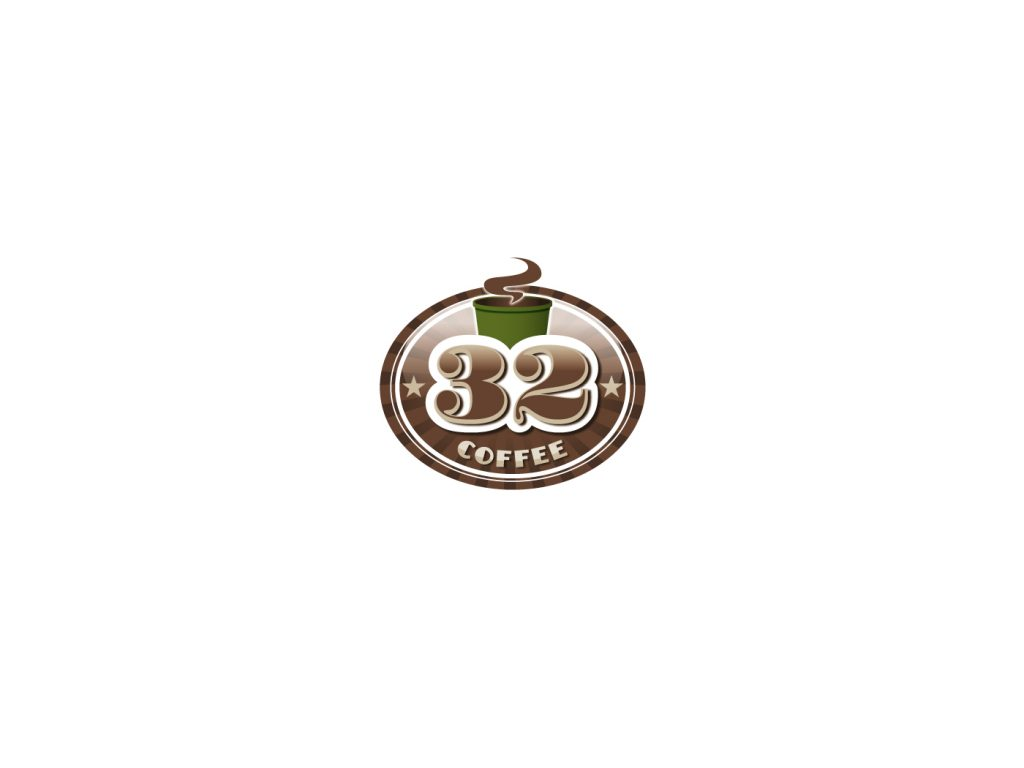 32 coffee logo