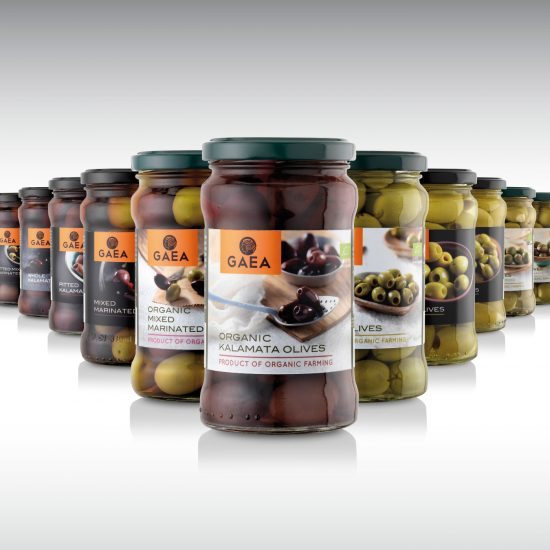 GAEA olives packaging