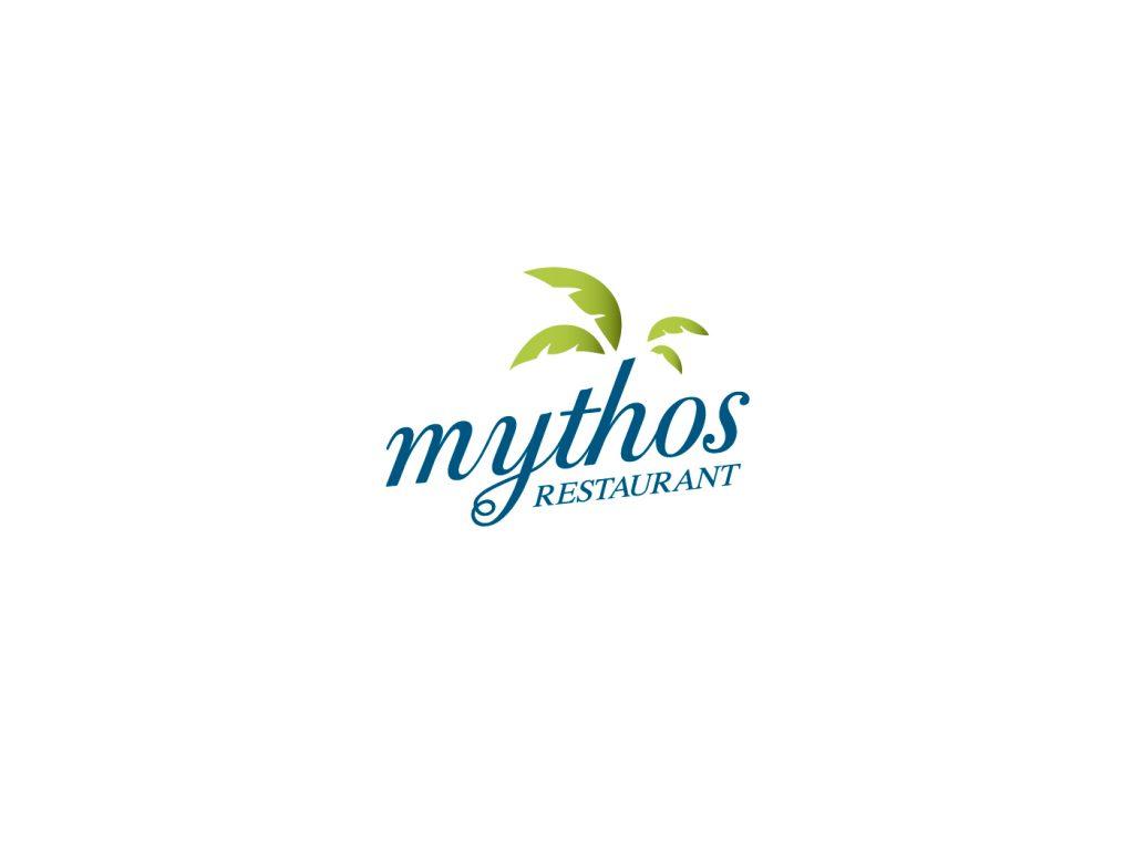Mythos restaurant logo
